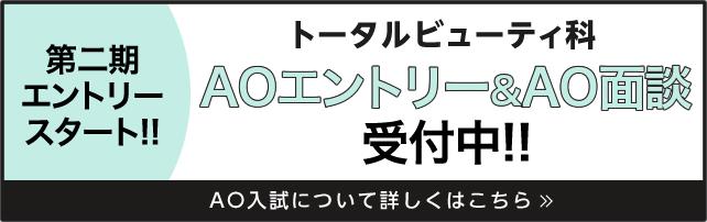 AOエントリー&AO面談スタート!